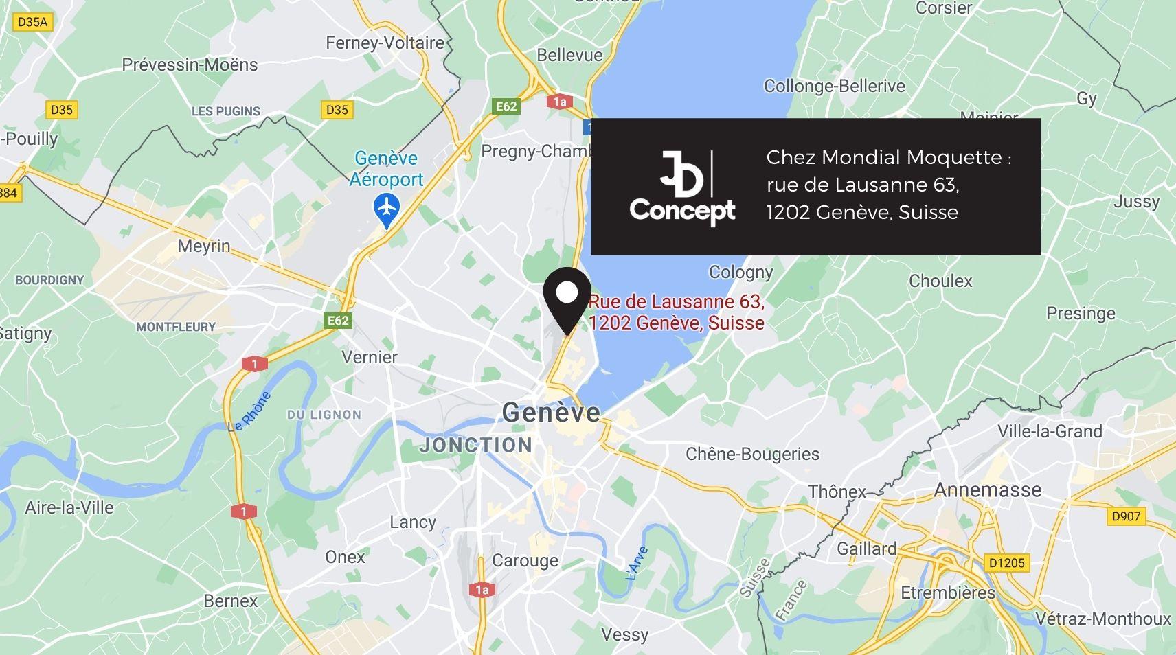 JDConcept Cuisiniste Genève sur la Carte